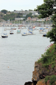 approaching Brixham, along the South West Coast Path, Ruth's coastal walk