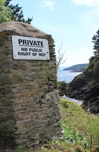 PRIVATE castle at mouth of Dartmouth, Ruth coastal walk