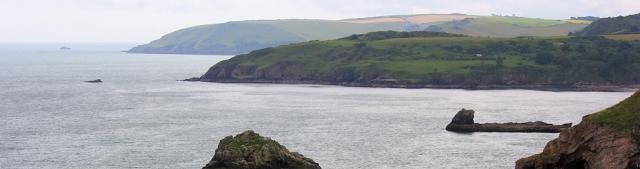 Sharkham Point from Brixham, Devon, Ruth's coast walk