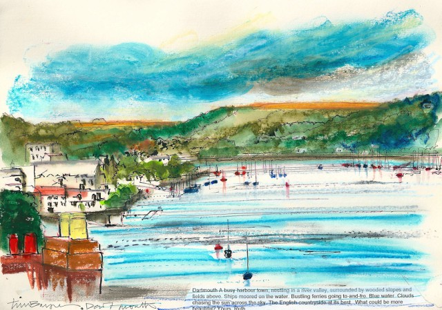Dartmouth - by Tim Baynes, Artist in Residence for Ruth's Coastal Walk