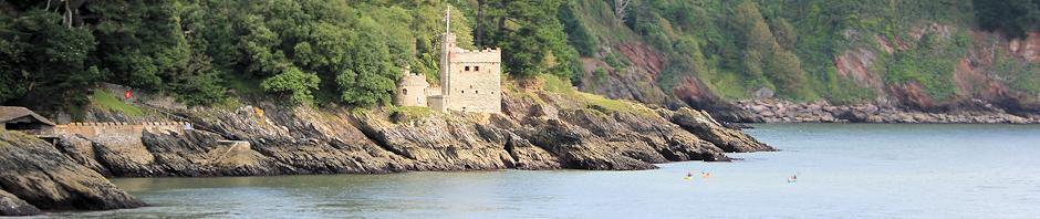 Castle near Kingswear, Ruth's coastal walk, Darmouth