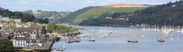 Dartmouth Harbour, Ruth's coastal walk.