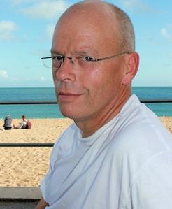 John at Blackpool Sands, Ruth's coastal walk, Devon.