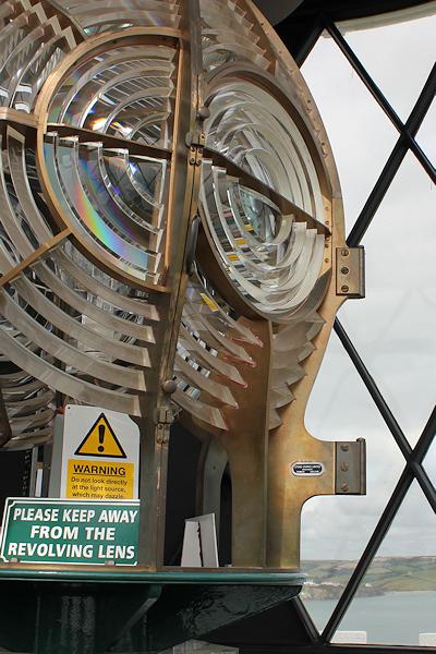 lighthouse lamp, Start Point light house - Ruth's coastal walk, Devon
