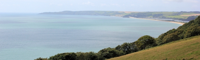 view of Slapton Sands and Start Point, Ruths coastal walk