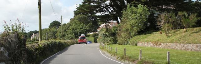 road walking along the South West Coast Path, Ruth in Devon