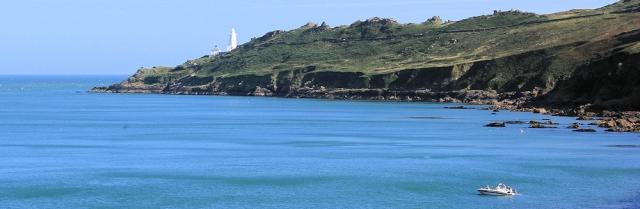 Start Point - view across Start Bay, Ruth's coastal walk. Devon.