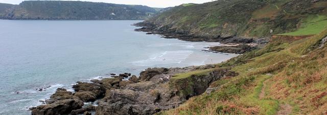 approaching Kingsbury Estuary - Ruth's coastal walk, Devon