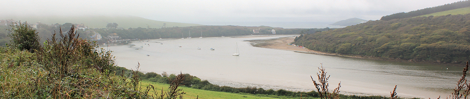 down River Avon to Burgh Island, Ruth on South West Coast walk