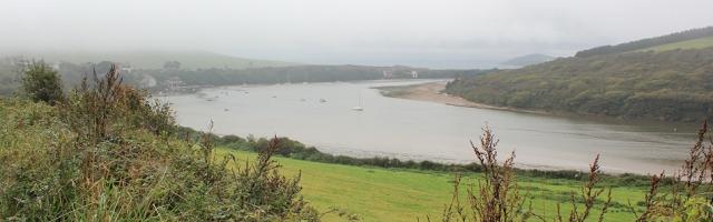 Avon mouth and Burgh Island, Ruth on her coastal walk through Devon