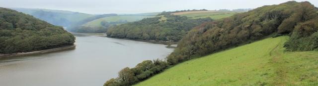 up the river Avon, Ruth walking the coast in Devon.