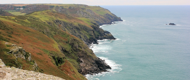 looking back towards Bolt Head - Ruth's Coast Walk, Devon.