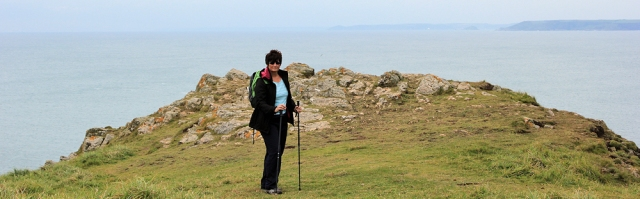 Ruth on Bolt Tail - Ruth's Coastal Walk, Devon.