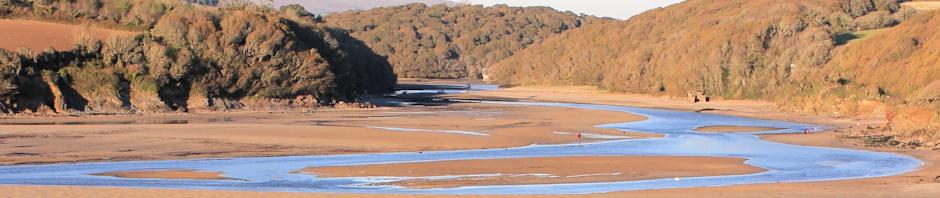 River Erme, Ruth's coastal walk.