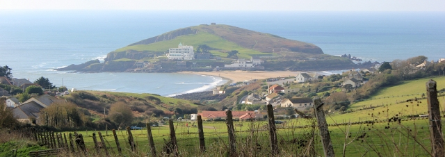 walking down to Burgh Island, Ruth's coastal walk, Devon