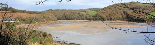 View from the west bank, Ruth's coastal walk, mouth of the River Erme, Devon