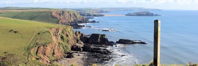looking back to Burgh Island, Ruth's coastal walk