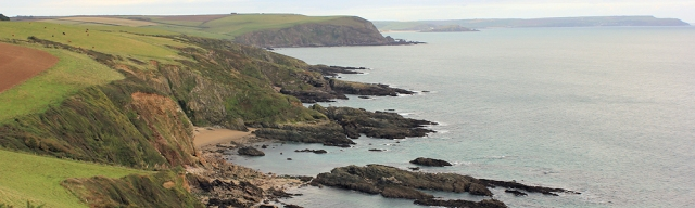 view back to Bolt Tail, Ruth's coastal walk, Devon