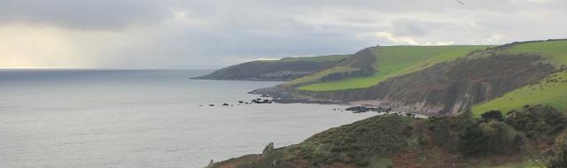 forward to Stoke Beach, Ruth on the South West Coast Path, Devon