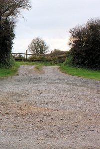 Empty car park, Ruth's coastal walk, Devon, Stoke Point