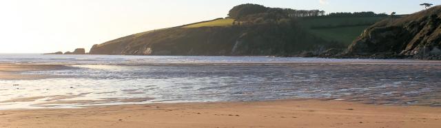 Sunset over River Erme, Ruth's coastal walk through Devon