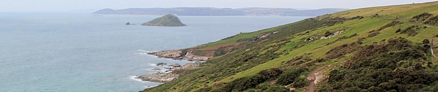 Great Mew Stone and Plymouth Sound, Ruth's coastal walk, UK