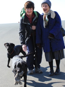 Ruth, mother-in-law and dogs, Plymouth