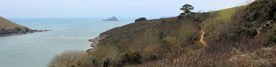 Yealm mouth and Great Mew Stone, Ruth's coastal walk, Devon