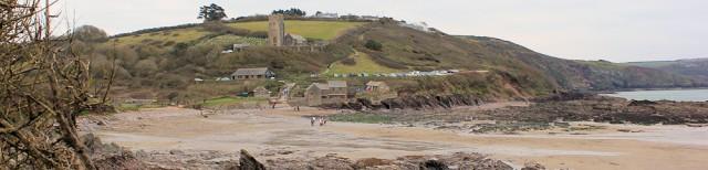 Wembury beach, Ruth walks the South West Coast Pat
