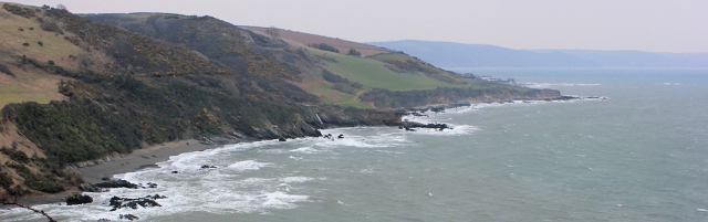 view back to Looe and Seaton, Ruth on South West Coast Path