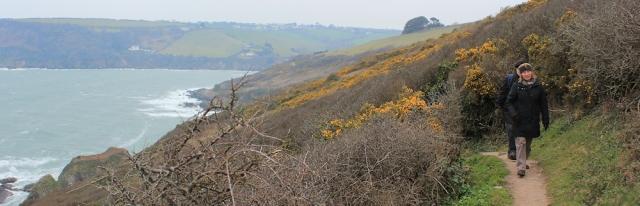Talland Bay, walking from Polperro, Ruth's coastal walk