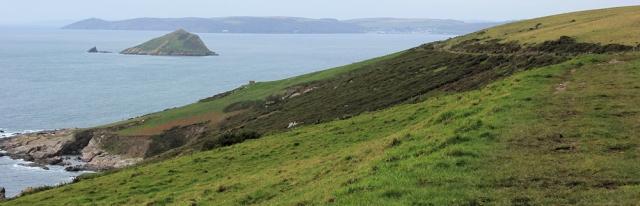 Revelstoke Drive, South West Coast Path, Ruth walking through Devon