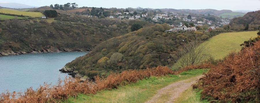 Mouth of River Yealm, Devon, Ruth's coastal walk. South West Coast Path