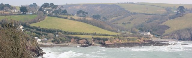 Talland Bay from the west, Ruth's coast walk
