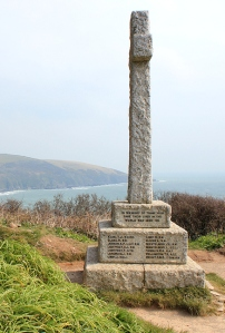 War Memorial, Downend Point, Cornwall, Ruth's coast walk