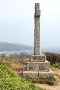 War Memorial, Downend Point, Cornwall, Ruth's coast walk