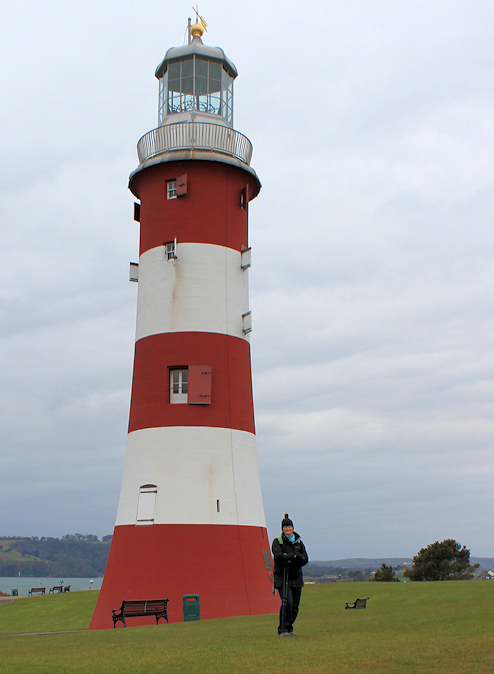 Plymouth Hoe, Ruth on her coastal walk