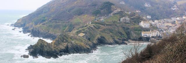 Polperro, Ruth walking around the coast of Cornwall