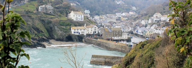 Polperro, Ruth on South West Coast Path
