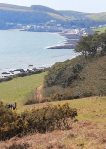 Ruth walking down to Kingsand and Cawsand, Cornwall