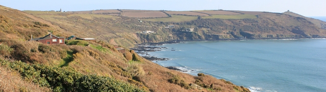 ooking back, Rame Head, ruths coast walk
