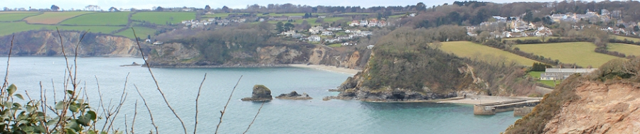 overlooking entrance to Charlestown Harbour, Ruth's coast walk.