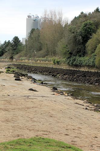river at Par Sands, Ruth's coast walking