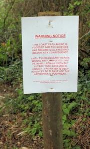 06 warning notice, - Ruth on her coastal walk, Cornwall