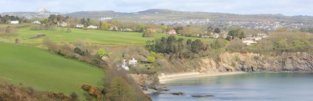 Porthpean, Ruth on her coastal walk, Cornwall
