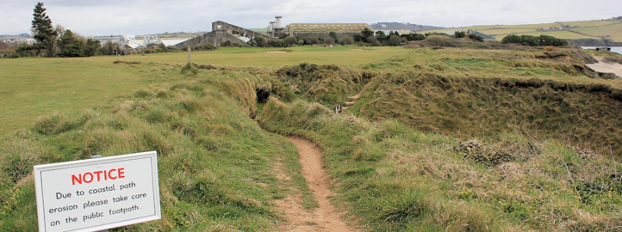 view back from golf course, Ruth's coastal walk