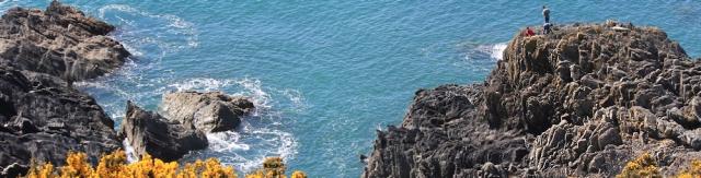 fishing, Cornwall, rocks, Ruth's coast walk