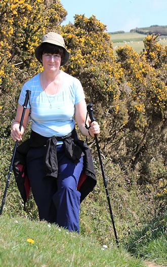 Ruth, walking the South West Coast Path, Cornwall.