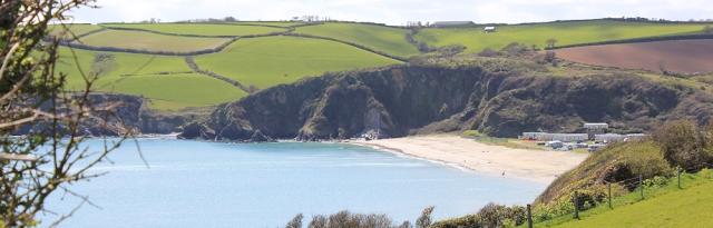 Pentewan beach, from South West Coast Path, Ruth's walk