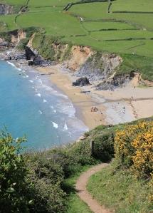 Hemmick Beach, Ruth's coast walking, Cornwall